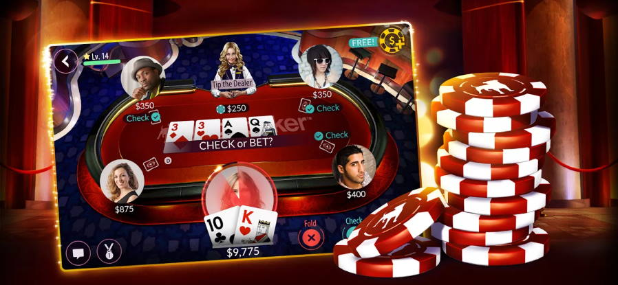 Play Your Favourite Game of Gambling- Poker for Free On Zynga App